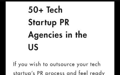 Web & Press está en lista de agencias de Relaciones Públicas para Startups de Tecnología en Estados Unidos